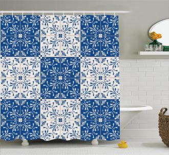 Portuguese Mosaic Shower Curtain