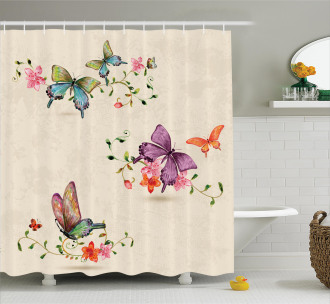 Wings Moth Transformation Shower Curtain