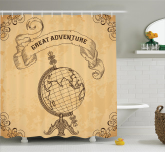 Great Adventure Quote Shower Curtain