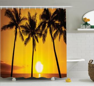 Sunny Beach Exotic Shower Curtain