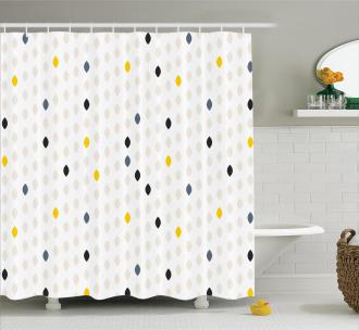 Polka Dots Geometric Shower Curtain