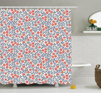 Retro Bohemian Floral Shower Curtain