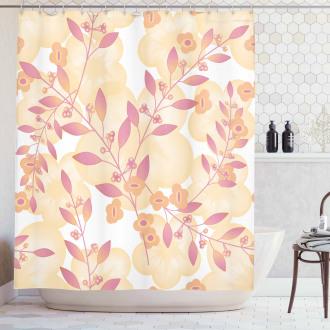 Floral Art Berry Pastel Shower Curtain
