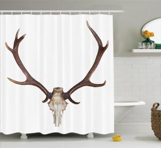 Antlers Skeleton Hunter Shower Curtain