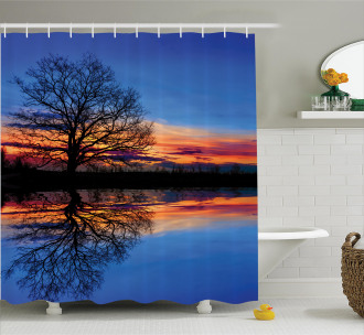 Nature Twilight Magical Shower Curtain