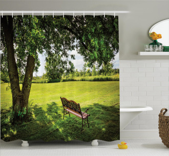 Resting in Nature Yard Shower Curtain
