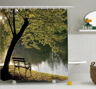Resting at Riverside Shower Curtain