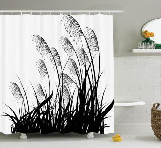 Bushes Wild Field Shower Curtain