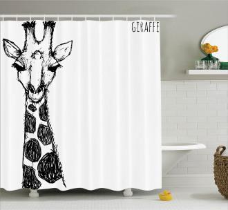 Safari Giraffe Shower Curtain
