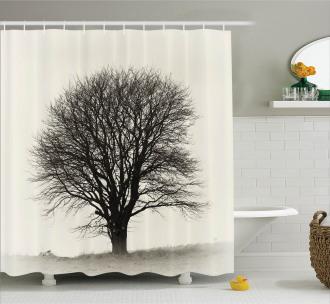 Branch Tree Field Shower Curtain