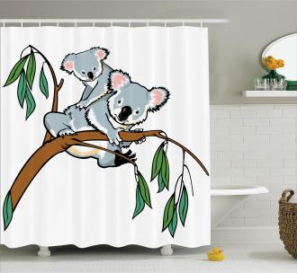 Koala Eucalyptus Shower Curtain