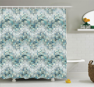 Artful Wave Square Shower Curtain
