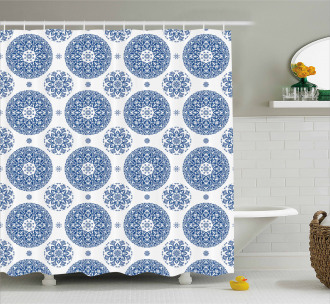 Vintage French Blue Shower Curtain