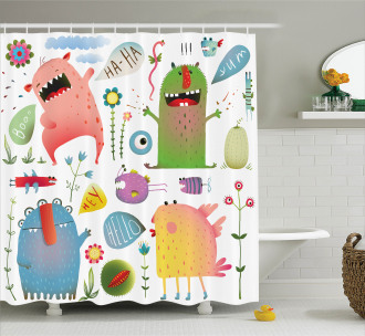 Imaginary Creatures Fun Shower Curtain