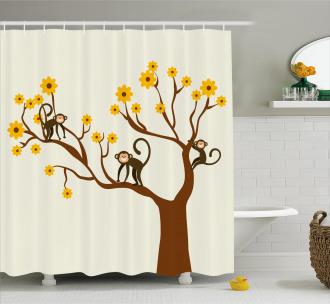 Climbing Cute Kids Fun Shower Curtain