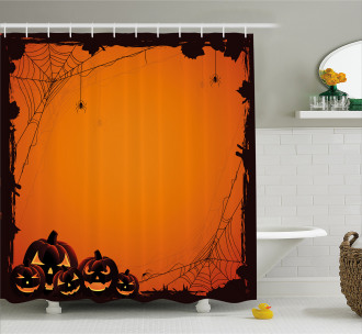 Halloween Pumpkin Scary Shower Curtain