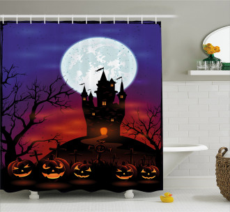 Haunted Castle Shower Curtain