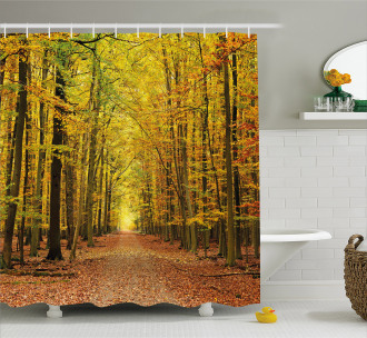Pathway into the Forest Shower Curtain