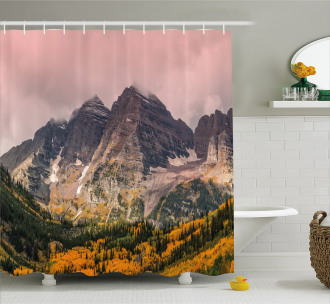 Mountain Forest Scenery Shower Curtain