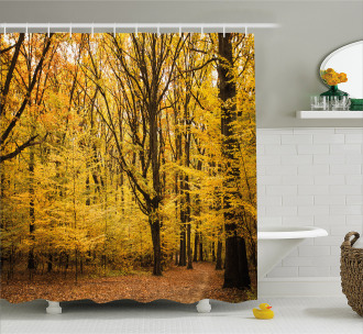 Autumn in Nature Theme Shower Curtain