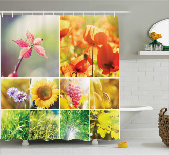 Flower Countryside View Shower Curtain