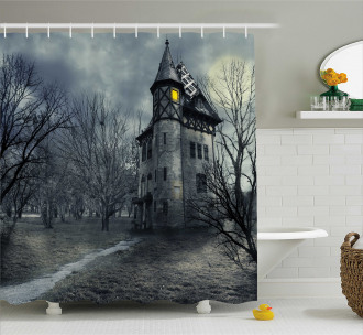 Gothic Haunted House Shower Curtain