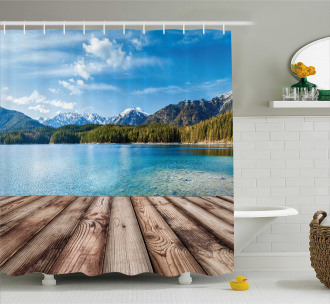 Lake Forest Mountain Shower Curtain