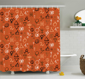 Western Aztec Spiritual Shower Curtain