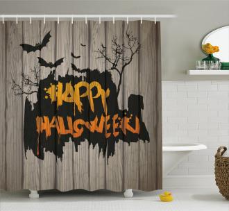Quote Bats Art Shower Curtain