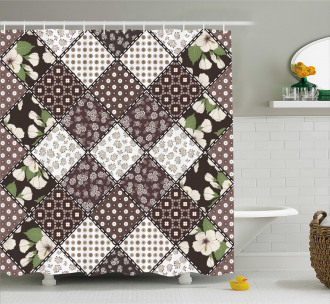 Vintage Flowers Bridal Shower Curtain