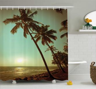 Sunset Pacific Dusk Shower Curtain