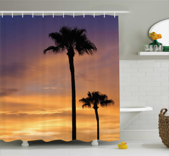 Exotic Coconut Dreamy Shower Curtain