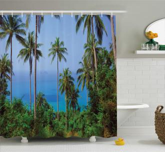 Ocean Jungle Beauty Shower Curtain