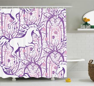 Magic Fairytale Forest Shower Curtain