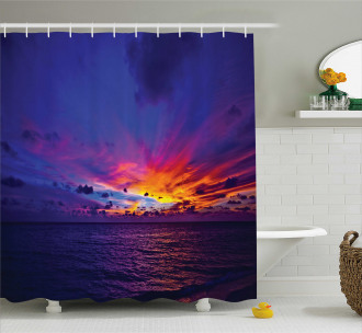 Dream Sunset Magenta Shower Curtain