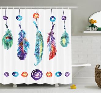 Feather Hippie Shower Curtain