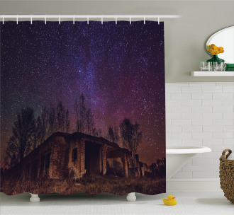 Sky Cosmos Galaxy Stars Shower Curtain