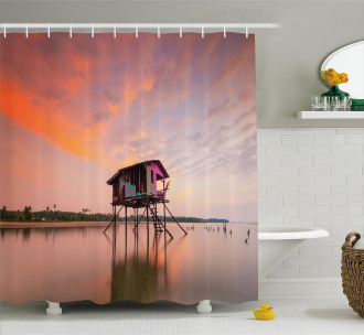 Sunset Ocean Twilight Shower Curtain