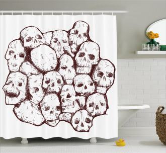 Trippy Conjoined Figures Art Shower Curtain