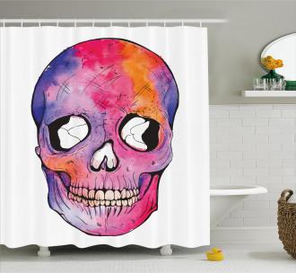 Cranium Cracks Grafitti Style Shower Curtain