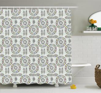 African Folk Shower Curtain