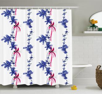 Native Asian Effect Shower Curtain