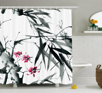 Natural Spring Buds Shower Curtain