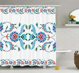 Ottoman Tulips Shower Curtain