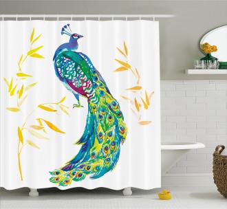 Floral Watercolors Art Shower Curtain