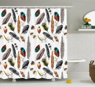 Vivid Feathers Vivid Art Shower Curtain