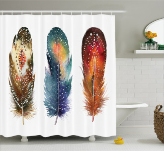 Feather Tribal Shower Curtain