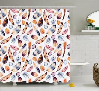 Peacock Feathers Kitsch Shower Curtain