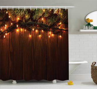 Christmas Theme Festive Shower Curtain