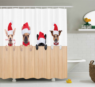 Wooden Fences Humor Shower Curtain